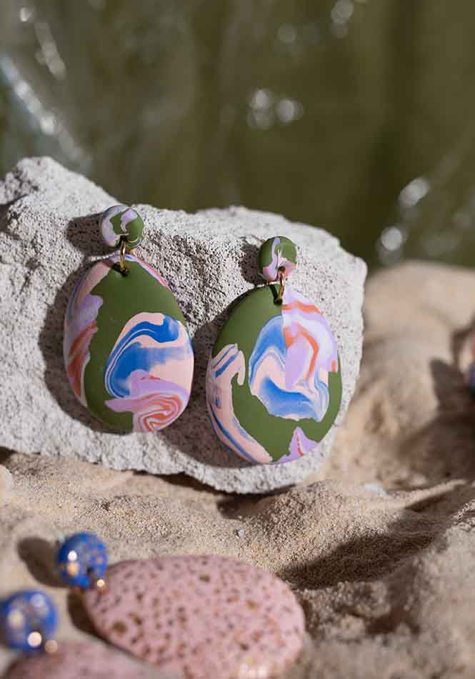 Rock Pools Drop Earrings