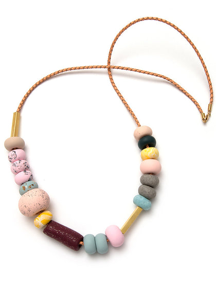Smokebush Mixed Bead Necklace