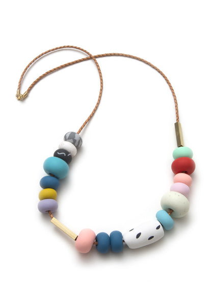 April Mixed Bead Necklace
