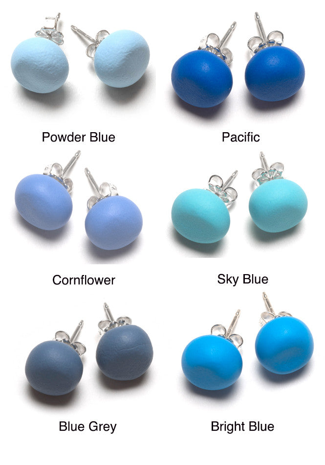 Blue Tone Stud Earrings