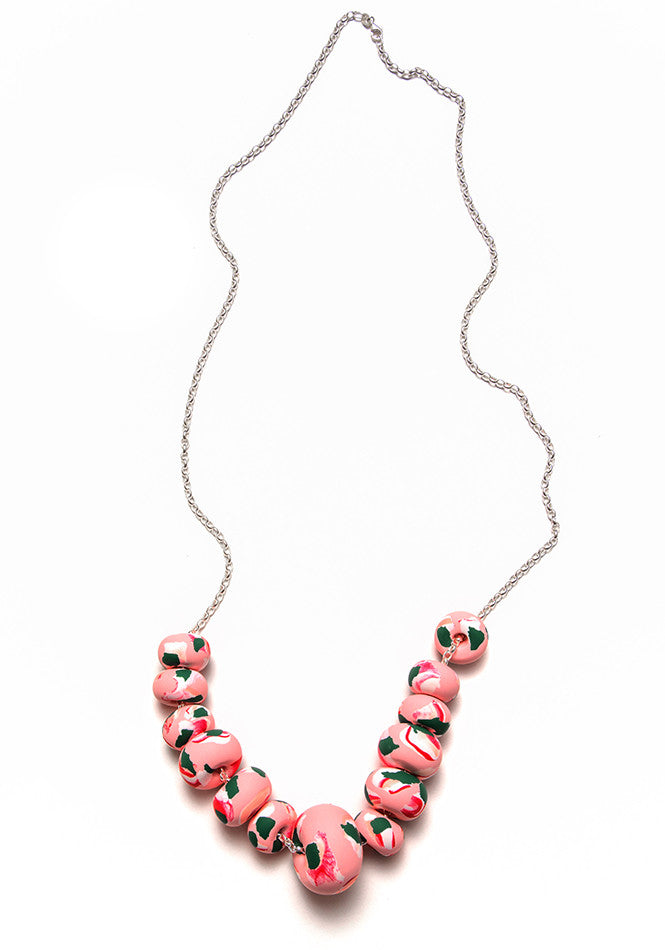 Fast Sketch Pink Ink Limited Edition Big Bead Necklace