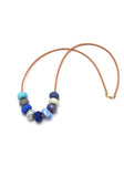Gossling Harvest of Gold Cornflower 9 Bead Necklace