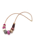 Gossling Harvest of Gold Raspberry Big Bead Necklace