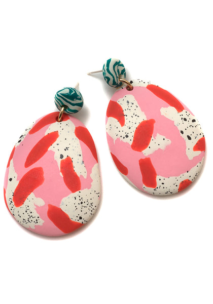 Magnolia Speckle Drop Earrings