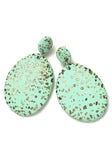 Spearmint Terrazzo Drop Earrings
