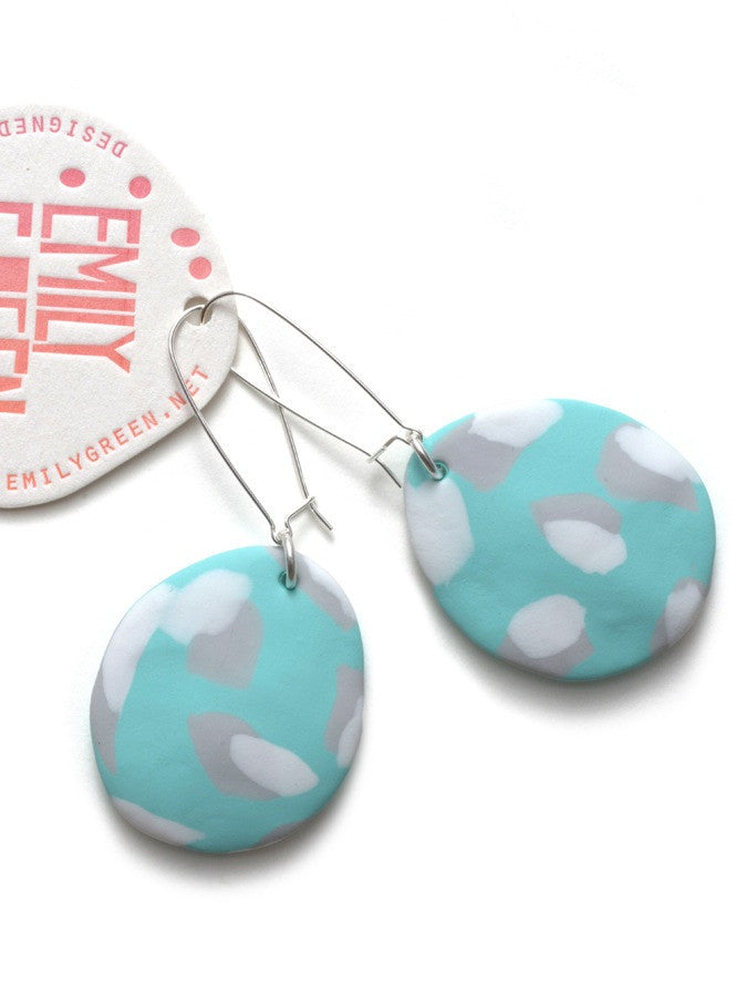 Seafoam Painterly Drop Earrings