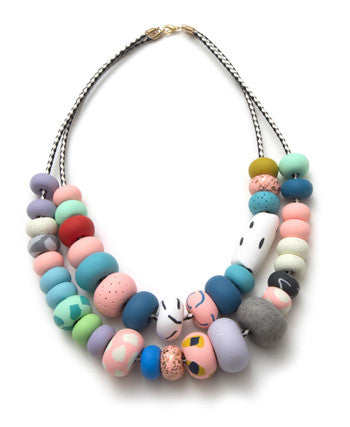 Stacy Double Strand Big Bead Necklace