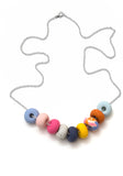 Wisteria Ink 9 Bead Necklace