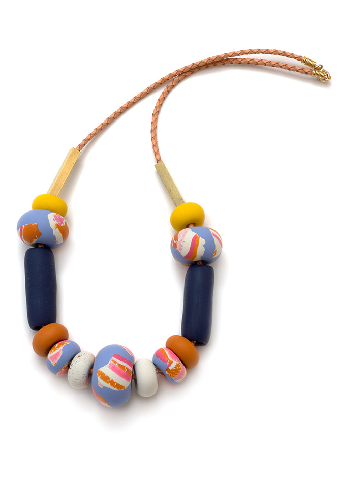 Wisteria Ink Big Bead Necklace