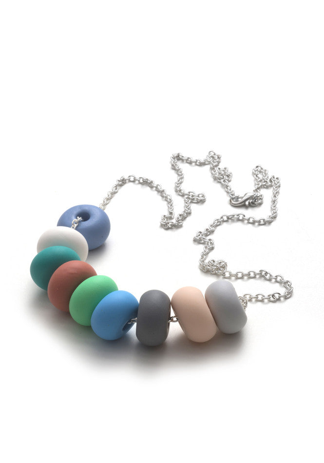 Jade 9 Bead Necklace