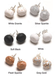 Neutral Tone Stud Earrings