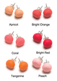 Red and Orange Tone Stud Earrings