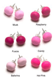 Pink Tone Stud Earrings