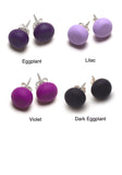 Purple Tone Stud Earrings