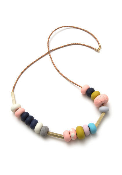 Sandy Mixed Bead Necklace