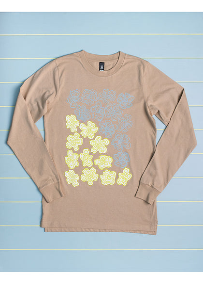 Wobbly Flowers Long Sleeved Tee