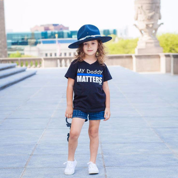 MY DADDY MATTERS BLACK TEE