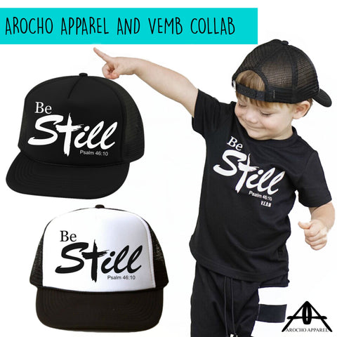 Be Still youth Collab tee and cap set