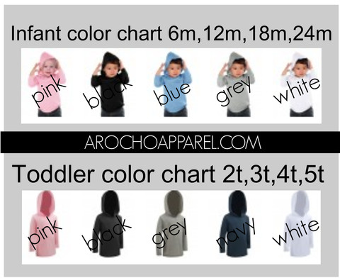 UPGRADE TO A HOODED TEE INFANT/TODDLER