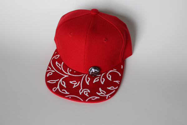 FLORAL RED SNAPBACK
