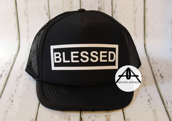 "Blessed ""boxed"" trucker hat"