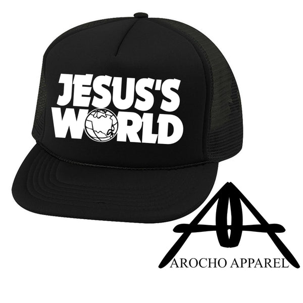 Jesus world trucker hat