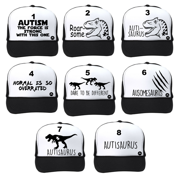 Autism awareness trucker hats