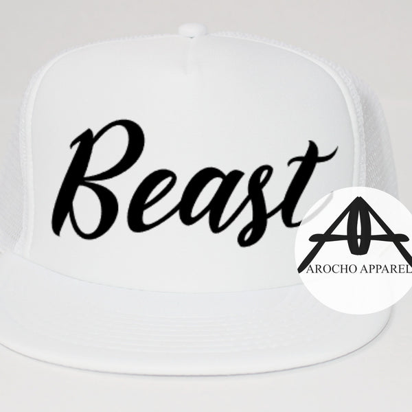 Beauty/Beast  trucker hat