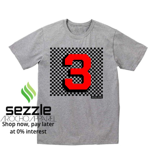 CHECKER NUMBER TEES