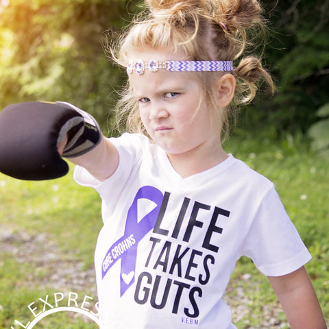 CROHNS IT TAKES GUTS TEE