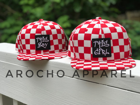 Checkered SnapBack (RED)