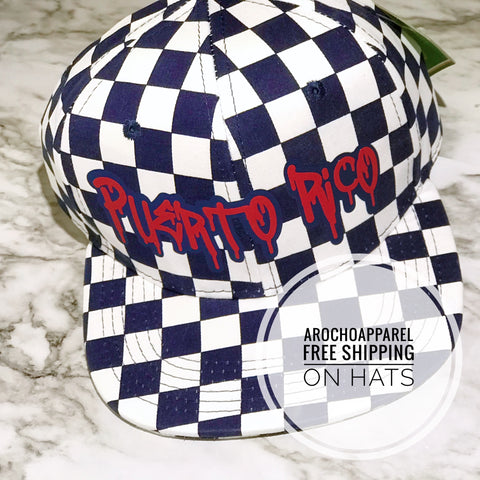 Puerto Rico Checkered SnapBack (NAVY)