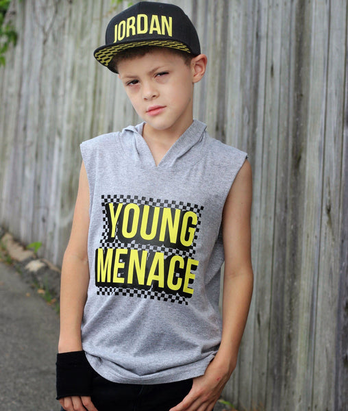Young menace Checker tee