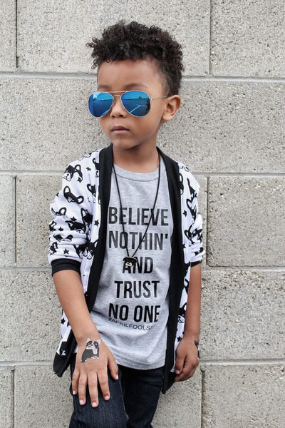 Believe Nothin  and trust no one - April fools day tee