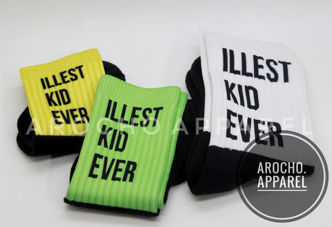 Illest kid ever Athletic socks