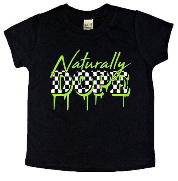 Naturally Dope checker tee