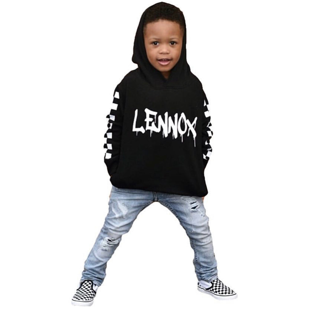 Checker toddler hoodie