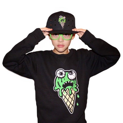Eye scream cone Youth Crew neck