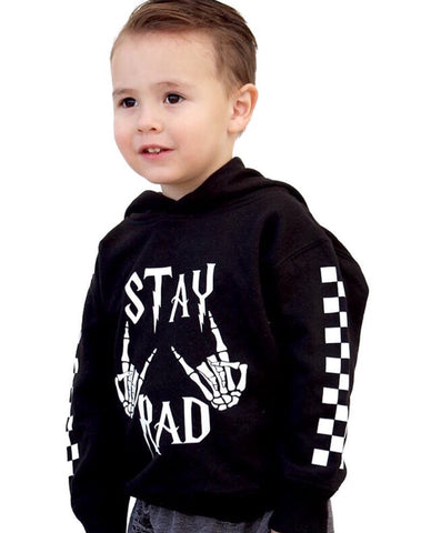 Stay Rad  Youth hoodie template