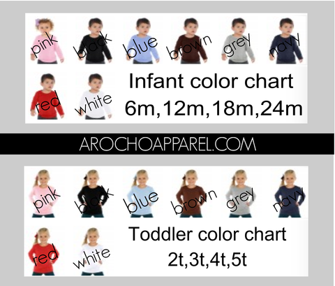 Upgrade to long sleeve Infant/toddler size