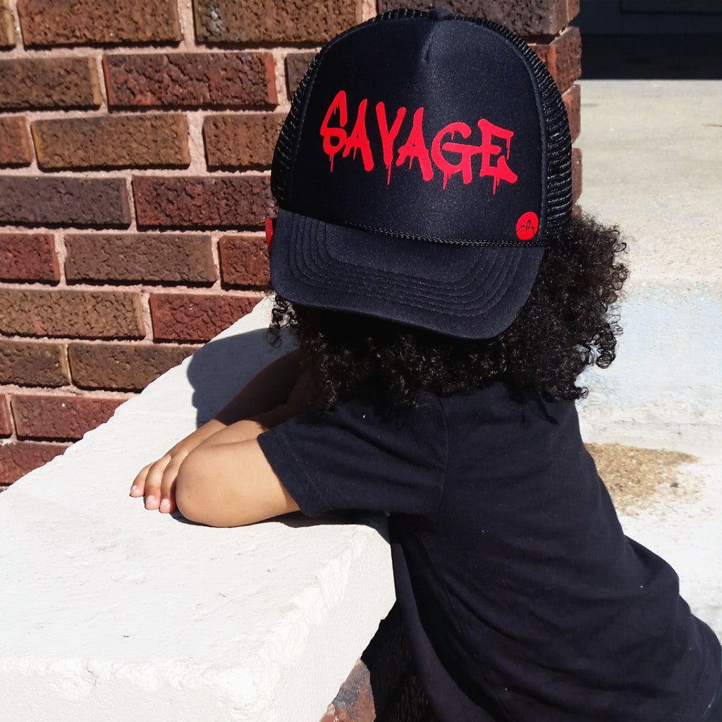 Savage drip font Trucker hat