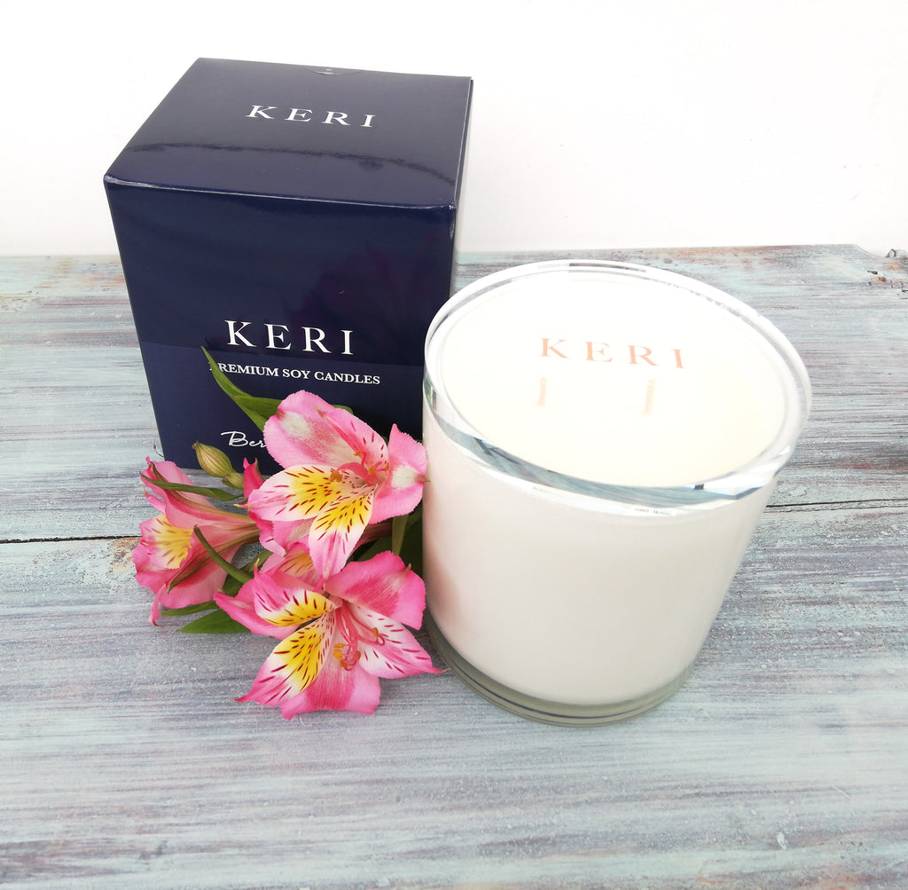 Large Kerri Soy Candle - Berry Bouquet