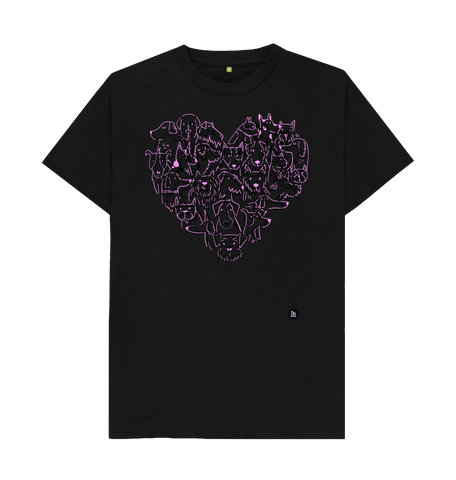 For the love of Dogs Black Tee