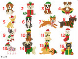 Christmas Dogs -  Personalised Fleece Blanket - snuffle mat by Ruffle Snuffle