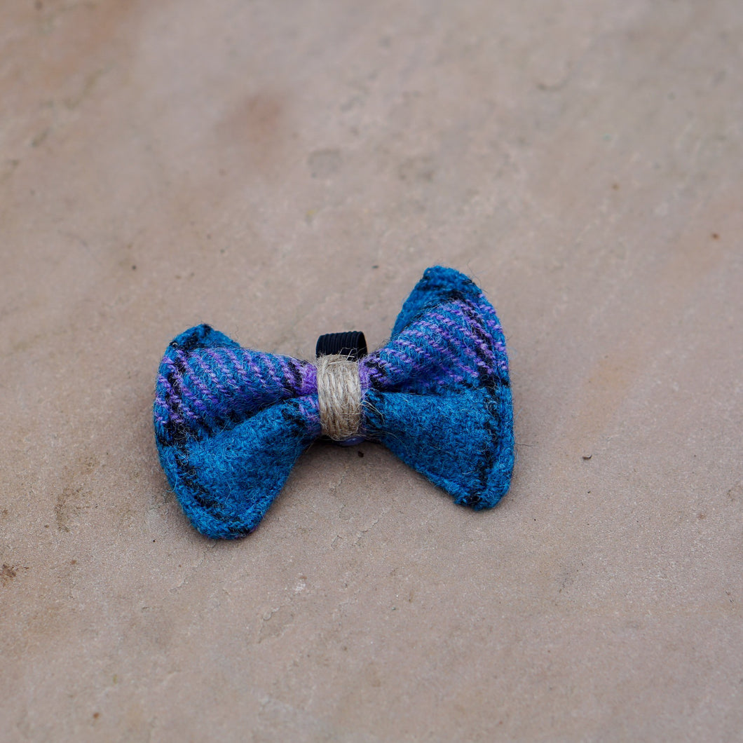 Harris Tweed Dog Bow Tie