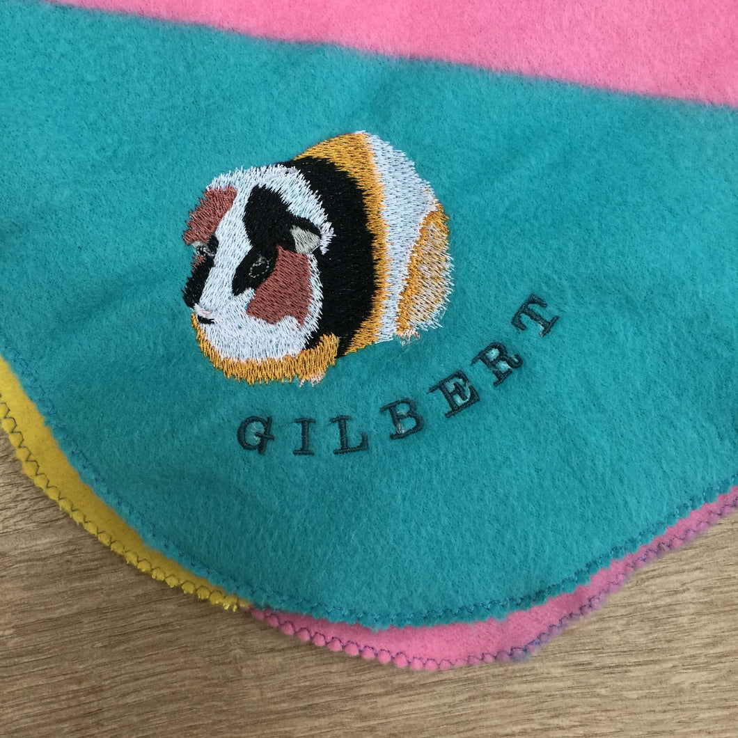 Guinea Pig - Personalised Fleece Blanket - snuffle mat by Ruffle Snuffle