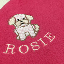 Load image into Gallery viewer, Personalised Fleece Dog Breed Blanket - snuffle mat by Ruffle Snuffle