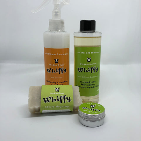 Whiffy Dog natural grooming set