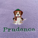 Christmas Dogs -  Personalised Fleece Blanket
