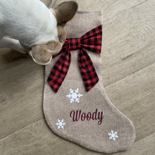 Load image into Gallery viewer, Personalised Christmas Stocking for Dogs